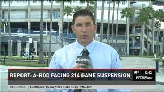 Alex Rodriguez is suspended until 2015