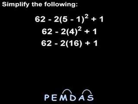 Order Of Operations Pemdas Mathhelp Youtube