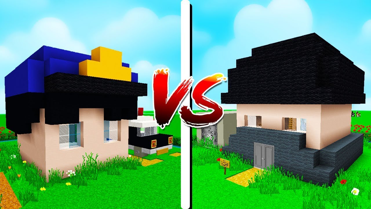 CASA POLCIA vs CASA LADRO  Minecraft Casa vs Casa