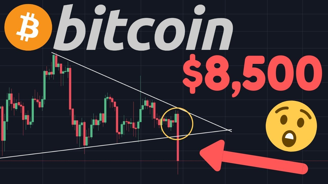 BITCOIN IS FALLING!!!! THE BREAKOUT CAME TODAY! $8,500?? $7,200 Target??!