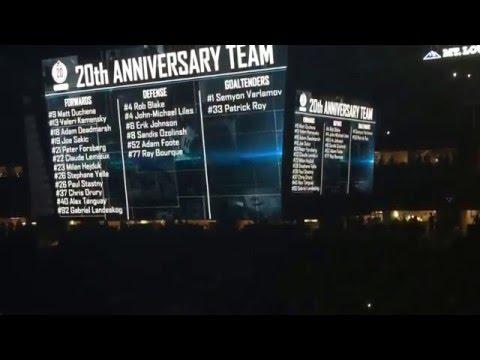 Colorado Avalanche 20th Anniversary Night & Intro #1