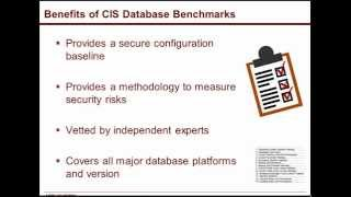 cis database security benchmarks simple steps to achieve compliance
