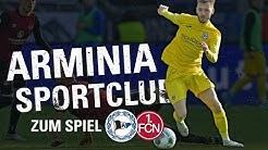 LIVE: Arminia Sportclub  zur Partie gegen den 1. FC Nürnberg (zu Gast: Finn Holsing)