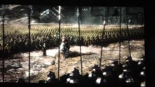 Scena di guerra del terzo film del Lo Hobbit