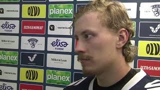 Karlsson ja Jääskeläinen haastattelussa 4. välierän jälkeen