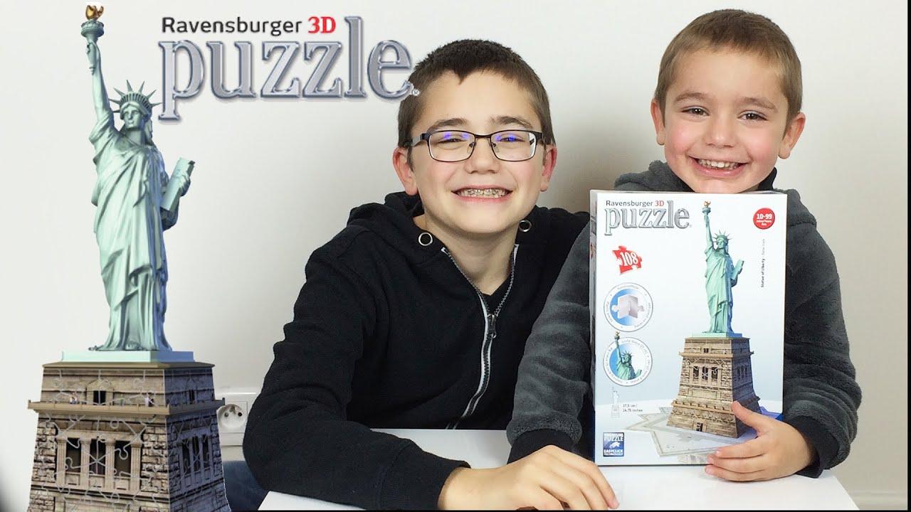 puzzle 3d ravensburger statue de la liberte unboxing statue of liberty puzzle 3d