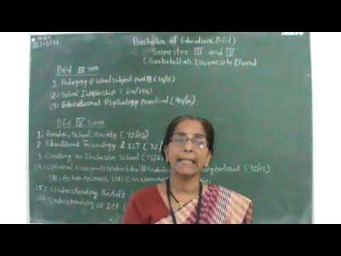 Overview of Syllabus B Ed 2nd Year B U Bhopal by Smt Kavita Tiwari from LBS College, Harda
