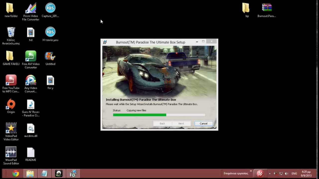 how to install burnout paradise the ultimate box pc youtube. Black Bedroom Furniture Sets. Home Design Ideas
