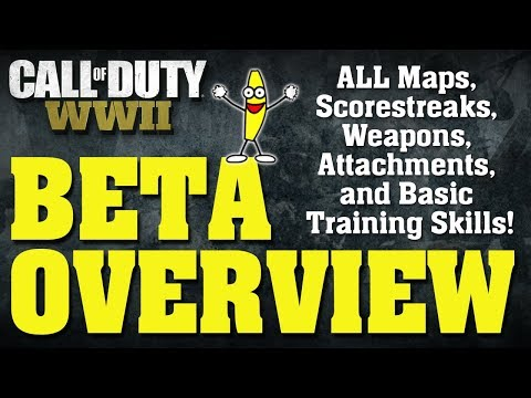 Call Of Duty WWII Private Multiplayer Beta Gameplay - All Attachments, Weapons, Scorestreaks