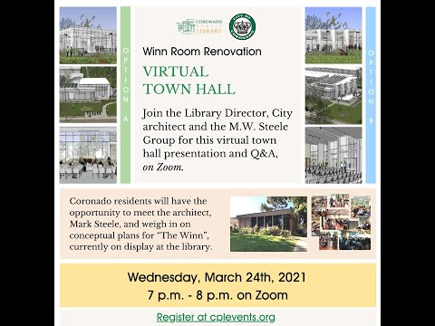 The Winn Room Renovation Virtual Town Hall