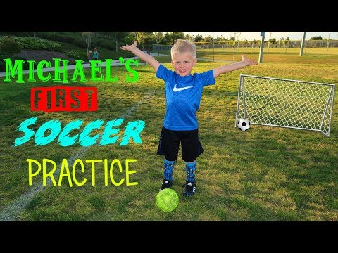 Michael's First Soccer Practice! - 동영상