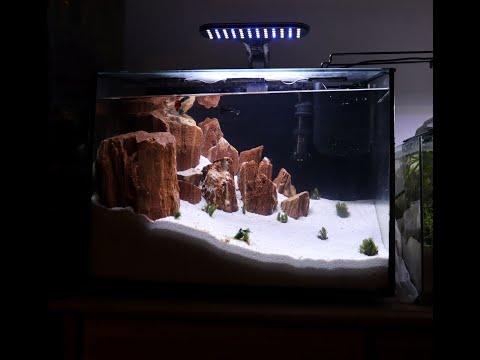 DESERT ISLAND ILLUSION AQUASCAPE FISHTANK WITH NIKO RED ROCK WHITE SAND