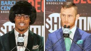 The full Jermall Charlo vs Dennis Hogan final press conference and face off video