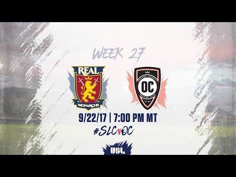 USL LIVE - Real Monarchs SLC vs Orange County SC 9/22/17