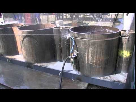 Steel Pipe Sheet Pile Cutting By Diamond Wire Saw Youtube