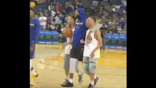 Stephen Curry meets his lost twin brothers for the first time at Oracle Arena 10/8/18