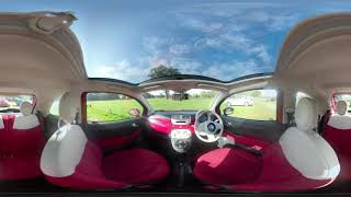 360° All Round Interior View Of Our 2011 Fiat 500  1 2 Lounge Hatchback 3dr Petrol Manual WP6
