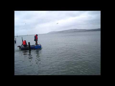 Mooring Barge sea trial