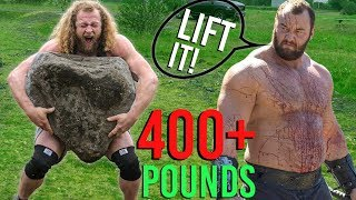 CAN I LIFT WORLD'S HEAVIEST STONE? 440LB THOR YELLS AT ME