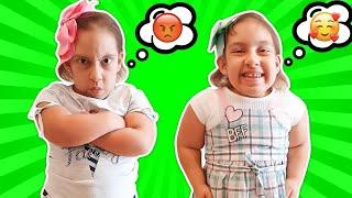Maria Clara em uma história engraçada de uma NOVA IRMÃ GÊMEA comilona - Família MC Divertida