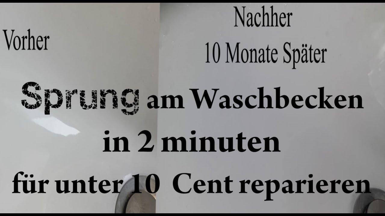 waschbecken sprung reparieren in nur 2 minuten f r unter 10 cent sink cheap repair youtube. Black Bedroom Furniture Sets. Home Design Ideas