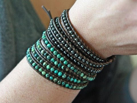 Iheartjenna - Bohemian Leather Wrap Bracelets