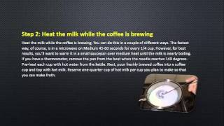Easy Steps To Make Cappuccino At Home