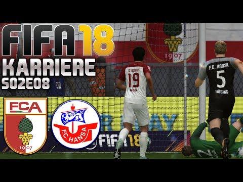 FIFA 18 KARRIERE ⚽ S02E08 • FC Augsburg vs. Hansa Rostock • LET'S PLAY