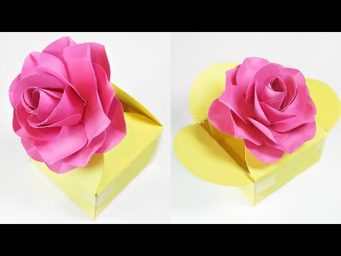 Paper crafts gift box template easy tutorial making diy ideas for kids, for birthday