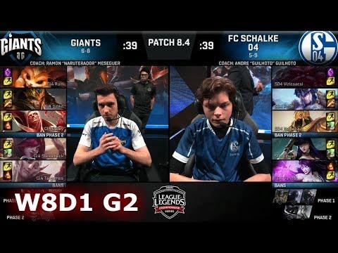 Giants vs FC Schalke 04 | Week 8 Day 1 of S8 EU LCS Spring 2018 | GIA vs S04 W8D1 G2