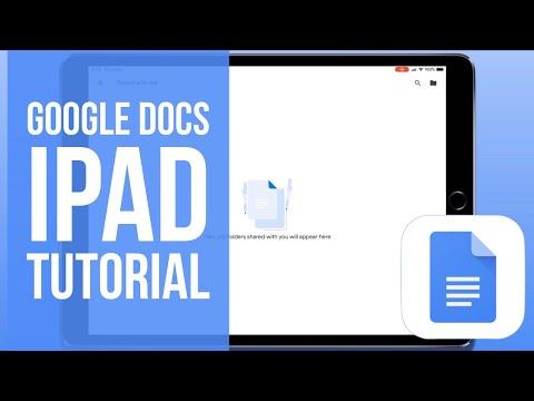 Google Docs for iPad Tutorial 2019
