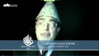 Opening Remarks & Dua by Dr. Ahsanullah Zafar - Jalsa Salana USA West Coast 2013
