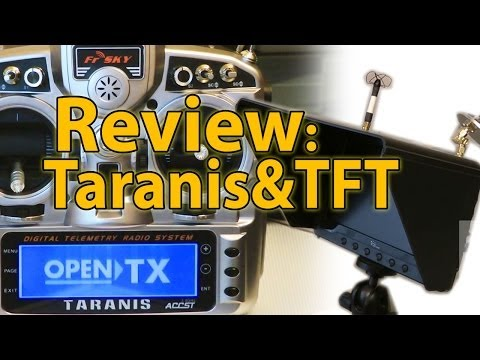 Taranis Radio & FPV Monitor with 5.8 Diversity Rx Black Pearl (RCSchim Review, Tips & Mods)