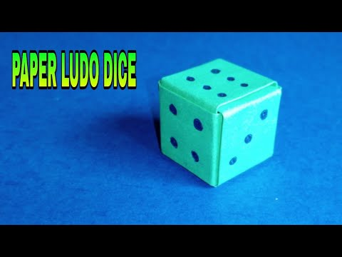 How to make a paper Ludo dice ? (step by step very easily)