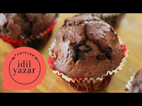 Kakaolu Muzlu Muffin Tarifi - İdil Yazar - Yemek Tarifleri -  Chocolate Chip Banana Muffin Recipe