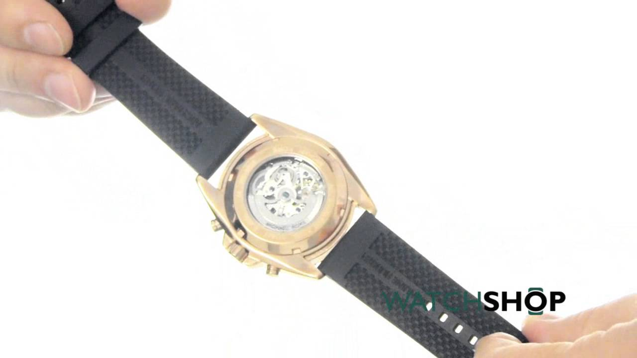109cd00b9eb2 Michael Kors Men s Jetmaster Automatic Watch (MK9025) - YouTube