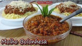 MOLHO BOLONHESA incrivelmente fácil e delicioso