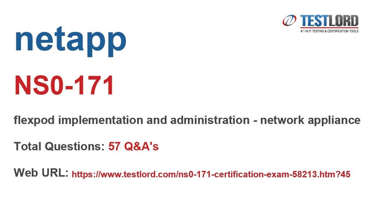 Netapp Ns0 171 Certification Questions Answers In Pdf Youtube