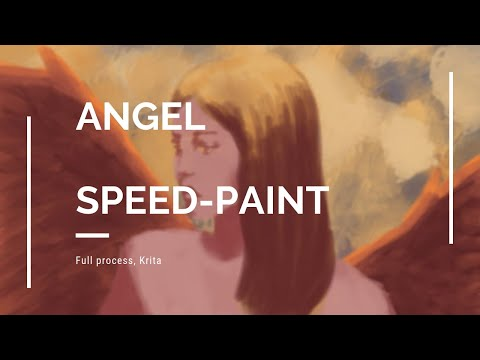 Angel Digital Paint over