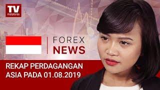 InstaForex tv news: 01.08.2019: Pidato Powell mendorong USD (USDX, JPY, AUD)
