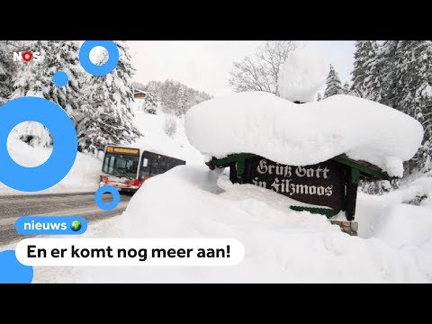 Weer een meter sneeuw in Oostenrijk en Duitsland
