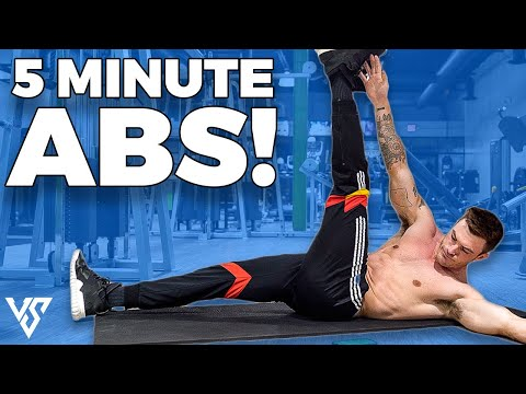 5 MINUTE ABS For Stronger Six Pack (HIT ALL 4 MUSCLES!)