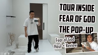 "Fear of God ""the atmosphere"" pop- up by Jerry Lorenzo (Haul + Review Essentials Distance Runner)"