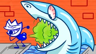 Nate Has A Special Skill To Deal With Megalodon | Animated Cartoons Characters | Animated Megalodon