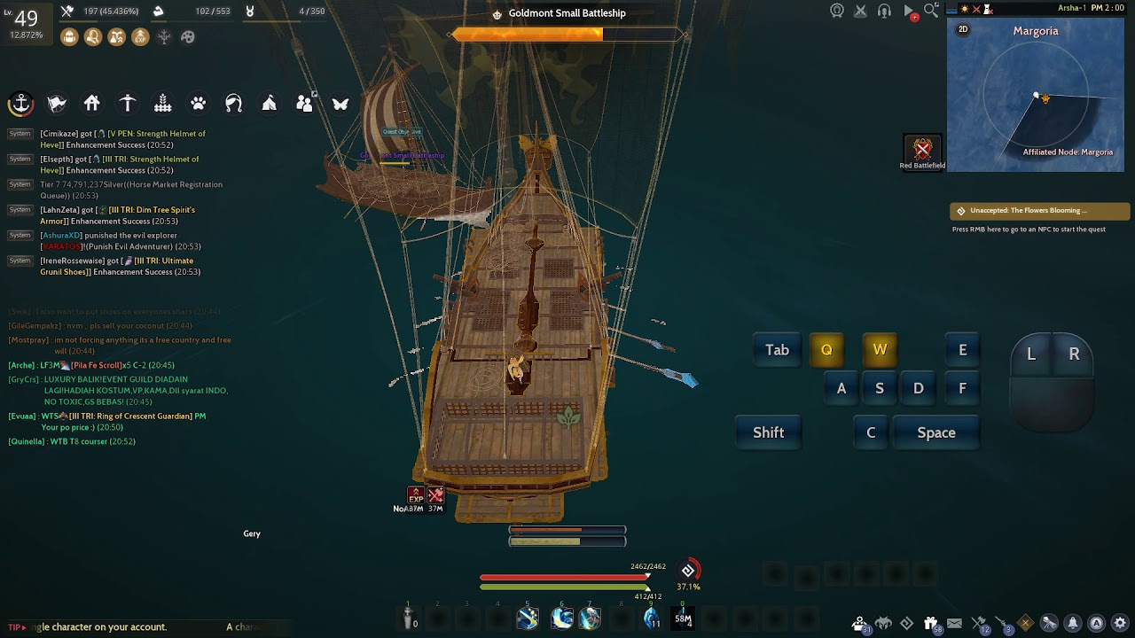 Bdo Goldmont Small Battleship solo - Sea monster hunting - Black Desert  Online New