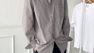 [그남자] 오버핏 피그먼트 셔츠