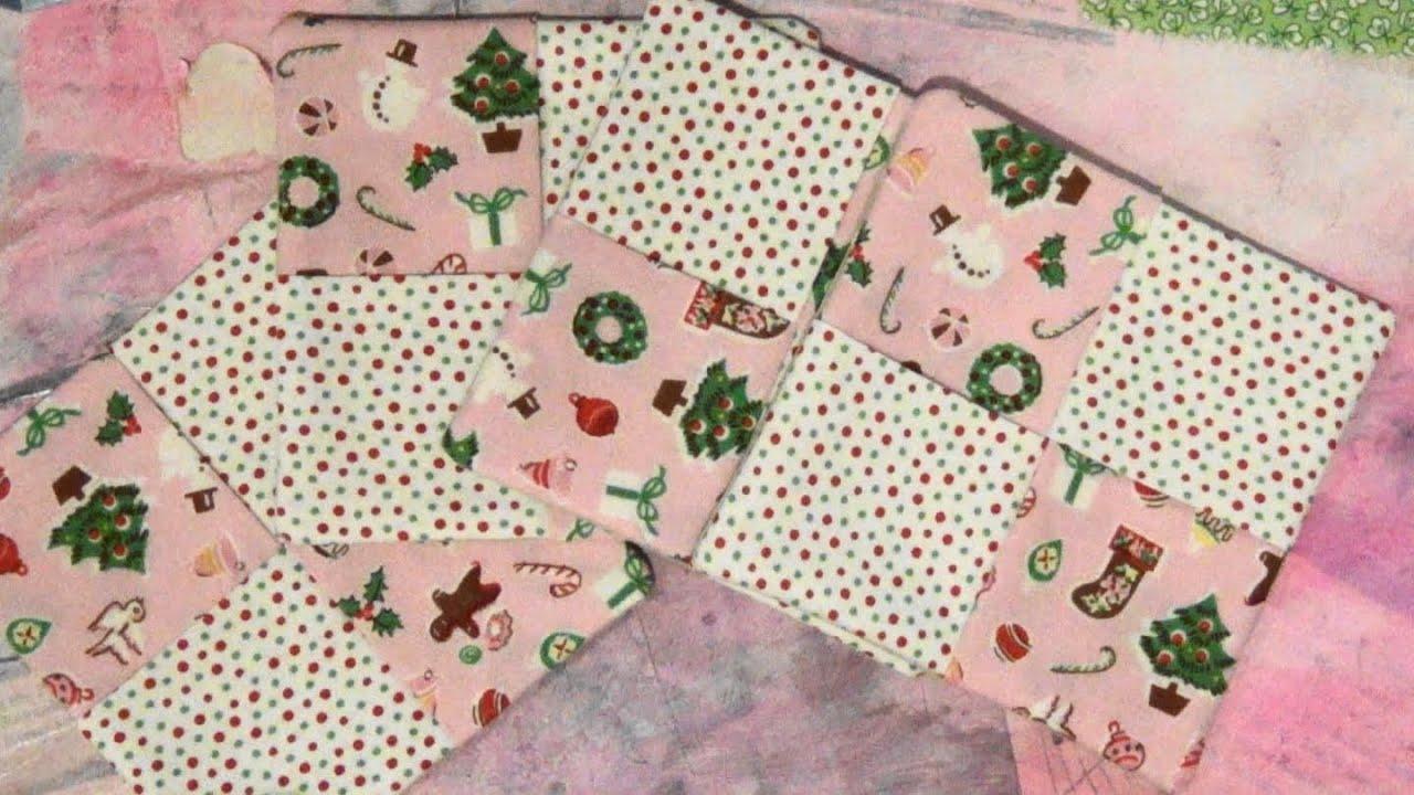 12 Gifts Of Christmas Gift 3 Fun Fold Fabric Coasters Youtube