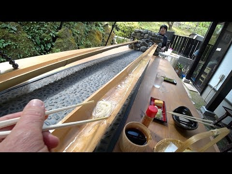 Flowing Japanese 🇯🇵 Bamboo Noodles 🍜 Nagashi Somen with EricSurf6