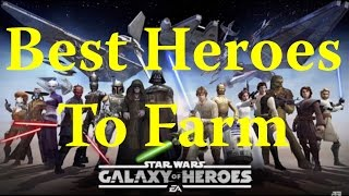 Star Wars: Galaxy Of Heroes - Farming Tips To Get Best Teams