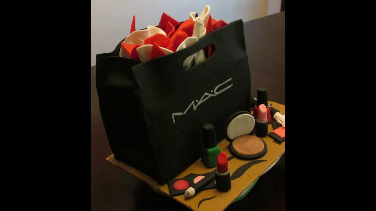 MAC Makeup bag cake - YouTube 754f58298cb60